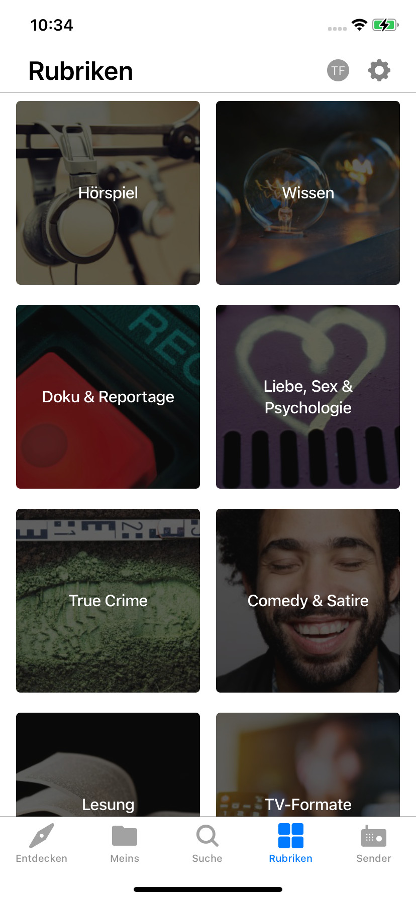 Screenshot 1 - ARD-Audiothek (App für iPhone & iPad)