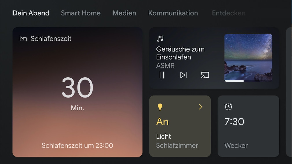 Dein Abend-Bildschirm auf dem Google Nest Hub