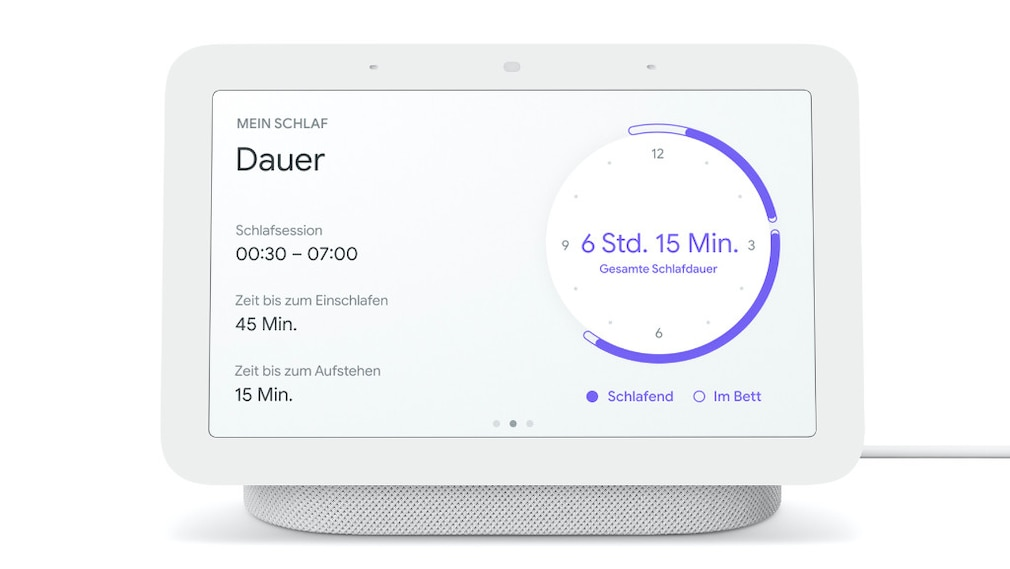 Schlafanalyse auf dem Google Nest Hub