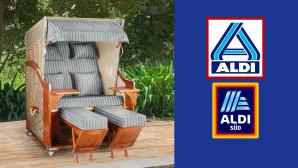 Strandkorb im Aldi-Angebot: Doppeltes Urlaubsglück zum Discounterpreis©Aldi
