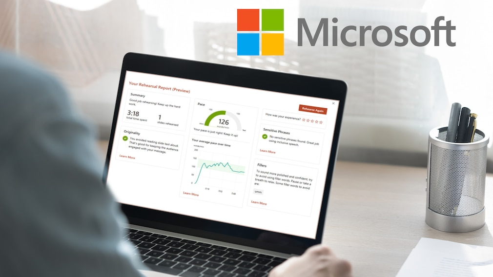 Microsoft PowerPoint Presenter Coach©iStock.com/fizkes , Microsoft