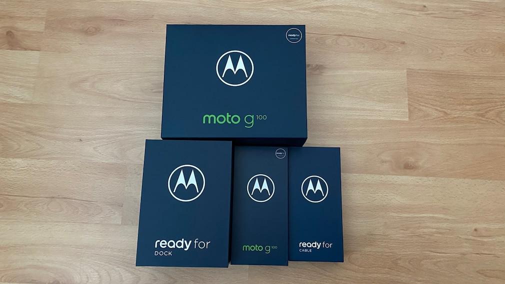 Verpackung Motorola moto g100