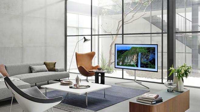 Auch auf dem optionalen Gallery Stand gibt der LG OLED G1 eine gute Figur ab.©LG Electronics, COMPUTER BILD
