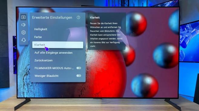Der LG OLED G1 bietet zahlreiche Optionen zur Bildoptimierung.©COMPUTER BILD