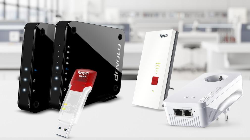 Geräte ohne WLAN: Diese Hilfsmittel bringen sie einfach ins Netzwerk©AVM, Devolo, iStock.com/onurdongel