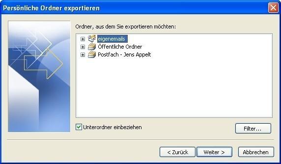 Bildergalerie: E-Mails in Outlook Exportieren