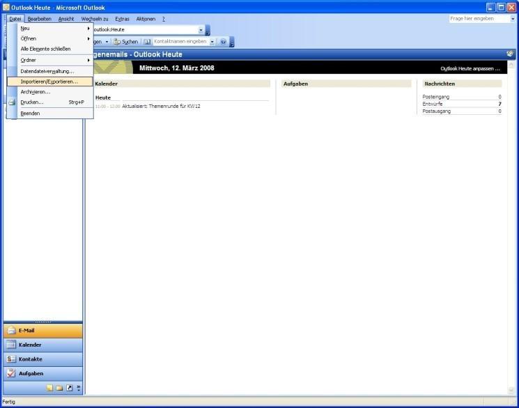 Outlook E Mails Sichern Und Importieren Bilder