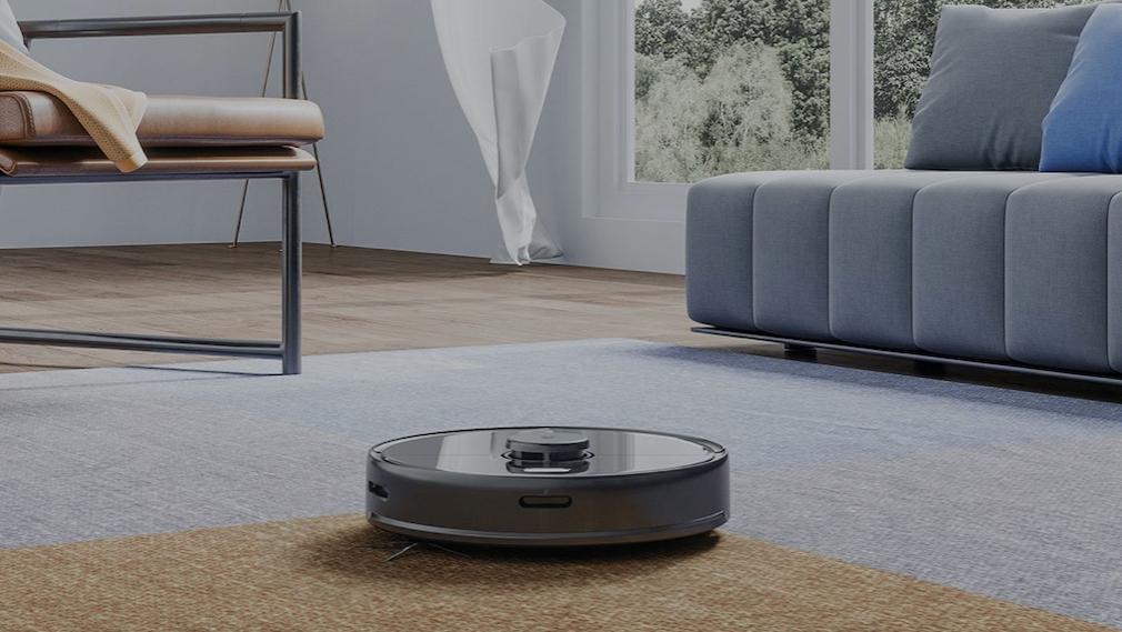 Roborock S5 Max im Wohnzimmer unterwegs
