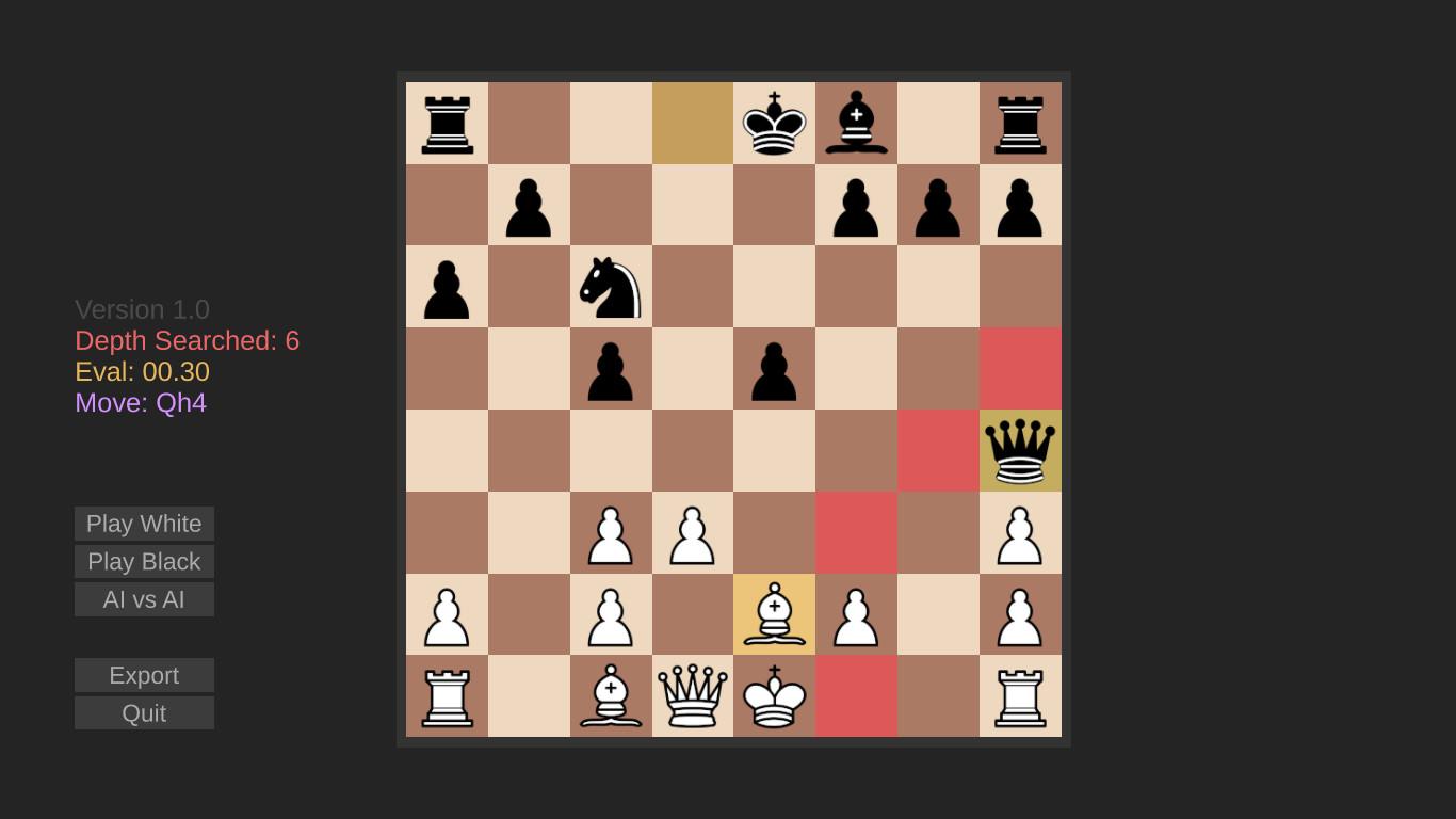 Screenshot 1 - Chess AI