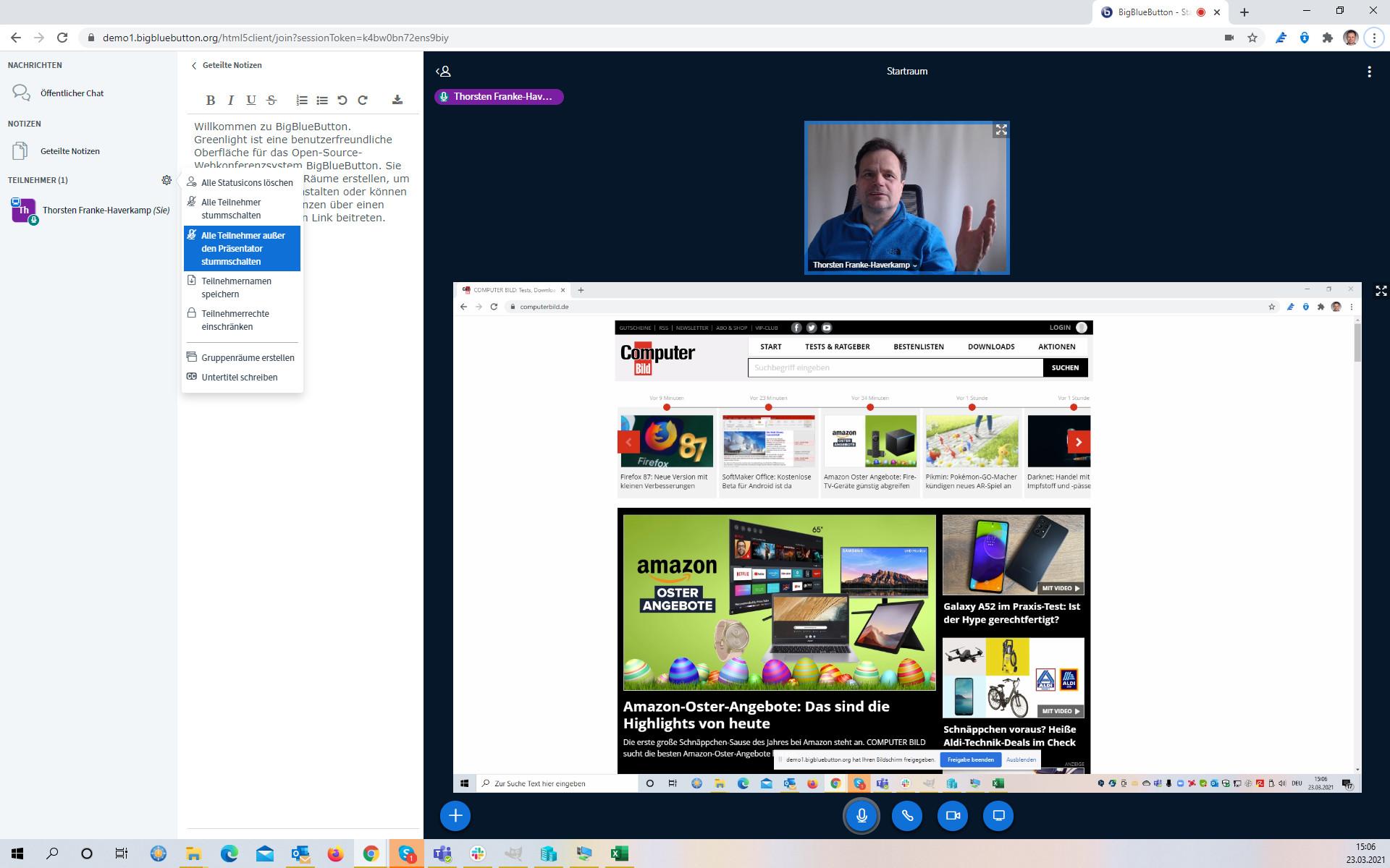 Screenshot 1 - BigBlueButton