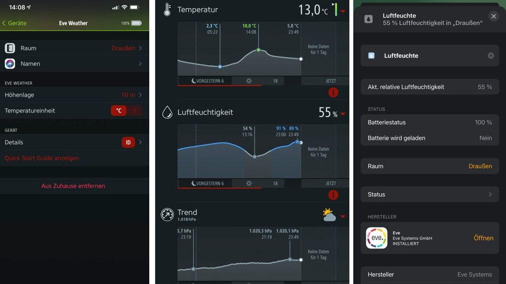 Eve Weather in Eve- und Home-App