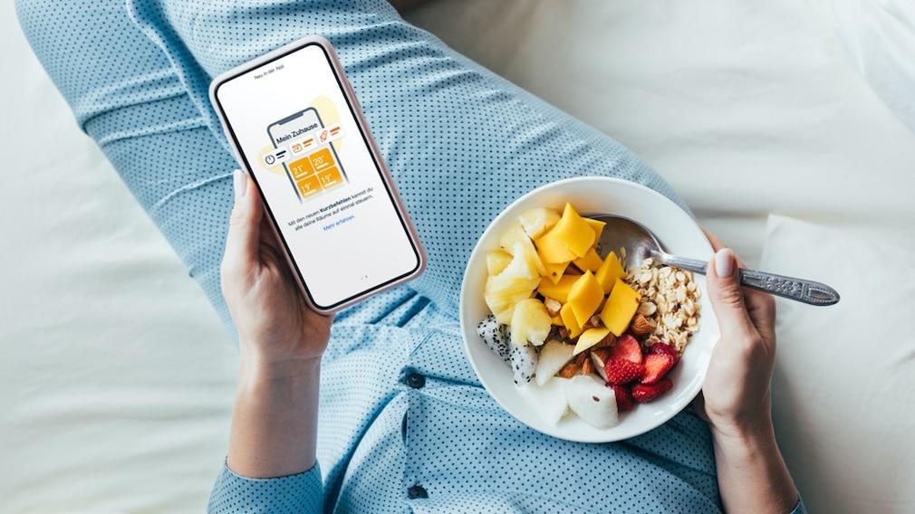 Die Tado-App auf einem Smartphone