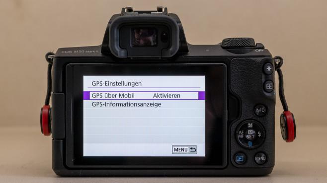 Canon EOS M50 Mark II GPS-Einstellungen©COMPUTER BILD