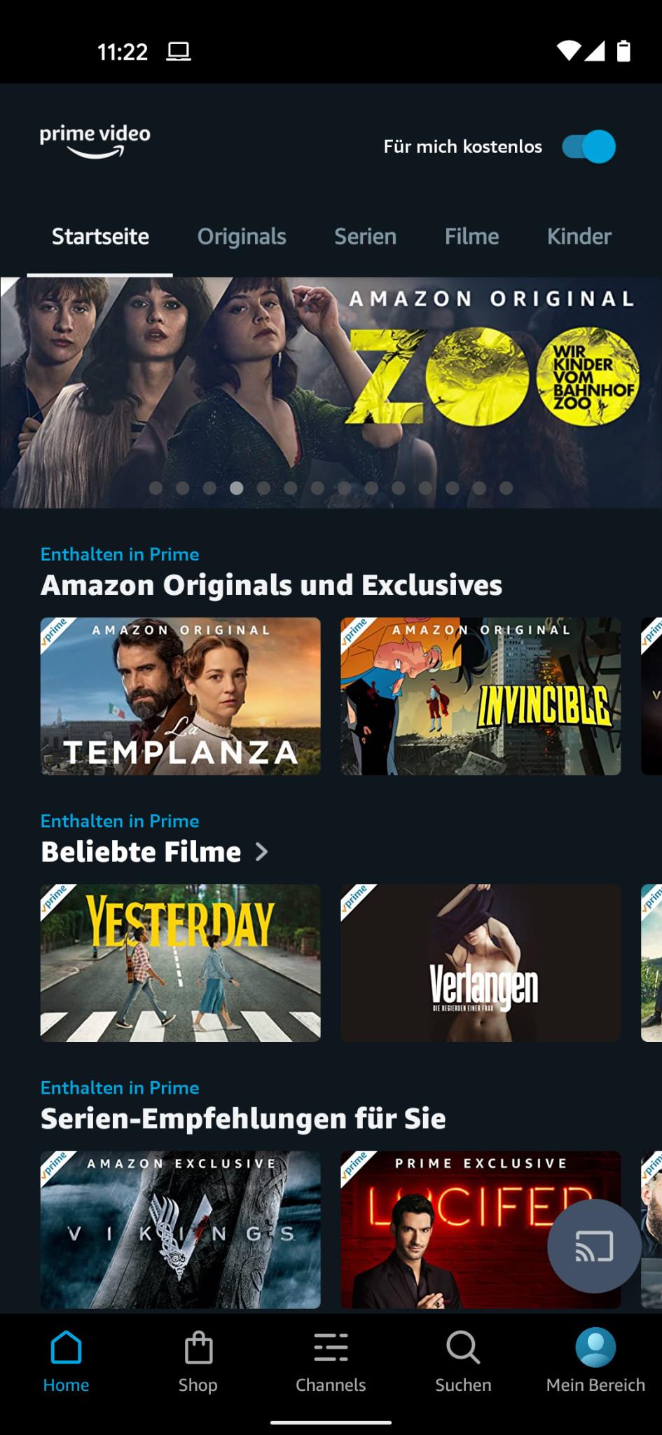 amazon prime video app auf deutsch stellen
