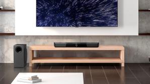 Die Creative SXFI Carrier passt mit 88 Zentimetern Breite gut zu Fernsehern ab 40 Zoll aufwärts©Creative