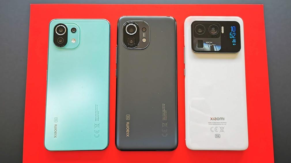 Xiaomi Mi 11 Lite 5G Xiaomi Mi 11 Xiaomi Mi 11 Ultra im Vergleich
