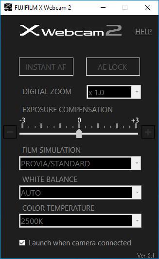 Screenshot 1 - Fujifilm X Webcam