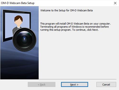 Screenshot 1 - OM-D Webcam