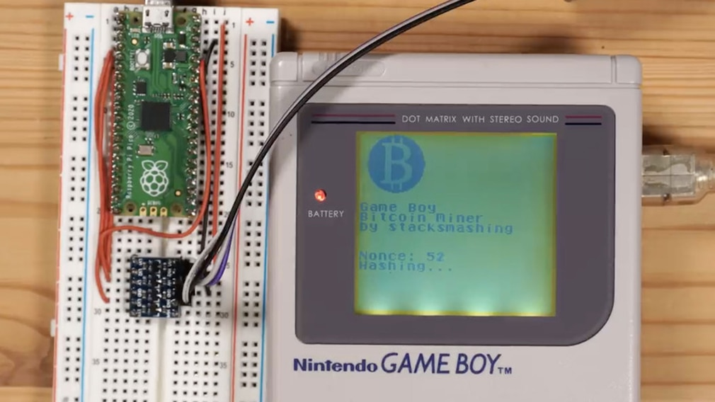 Game Boy: Bitcoin-Mining