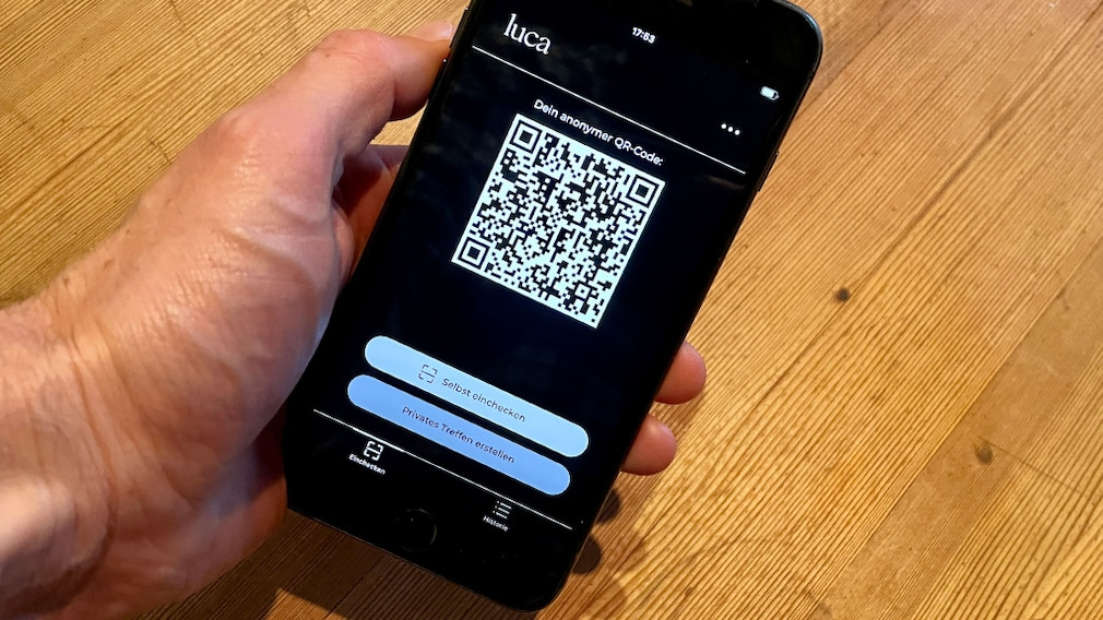 Luca-App auf einem iPhone©COMPUTER BILD