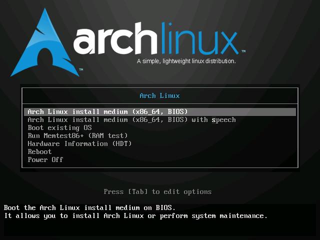 Screenshot 1 - Arch Linux