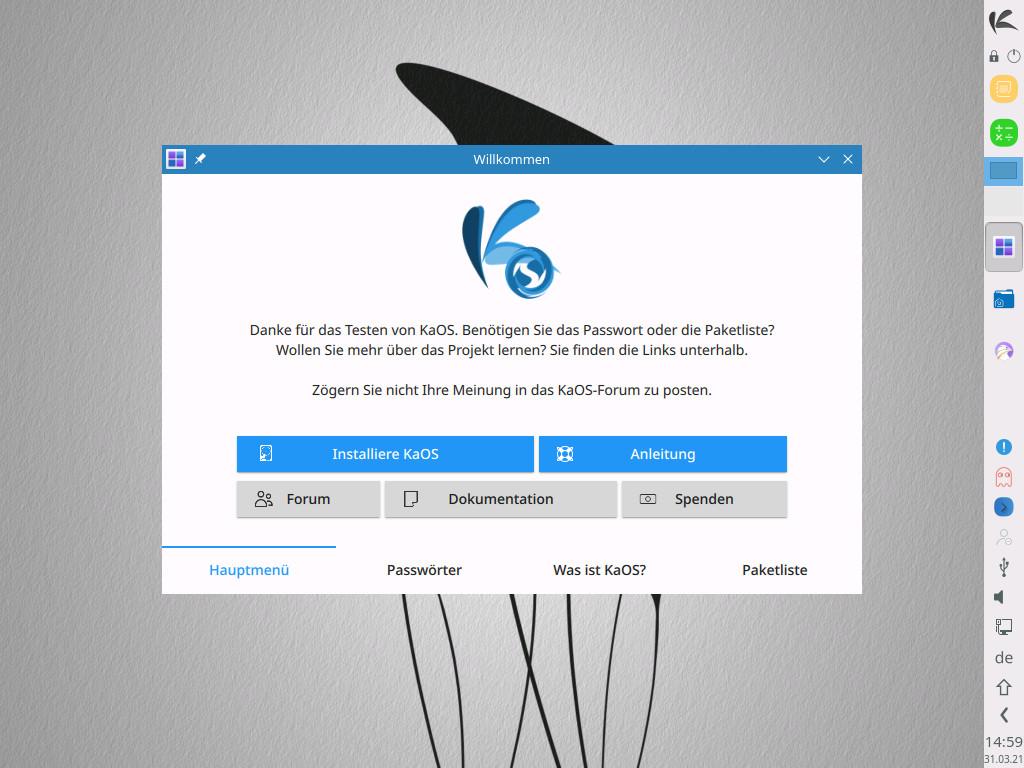 Screenshot 1 - Linux KaOS