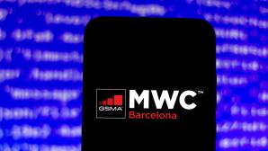 Logo des MWC 2021 auf einem Handy©SOPA Images /Getty Images