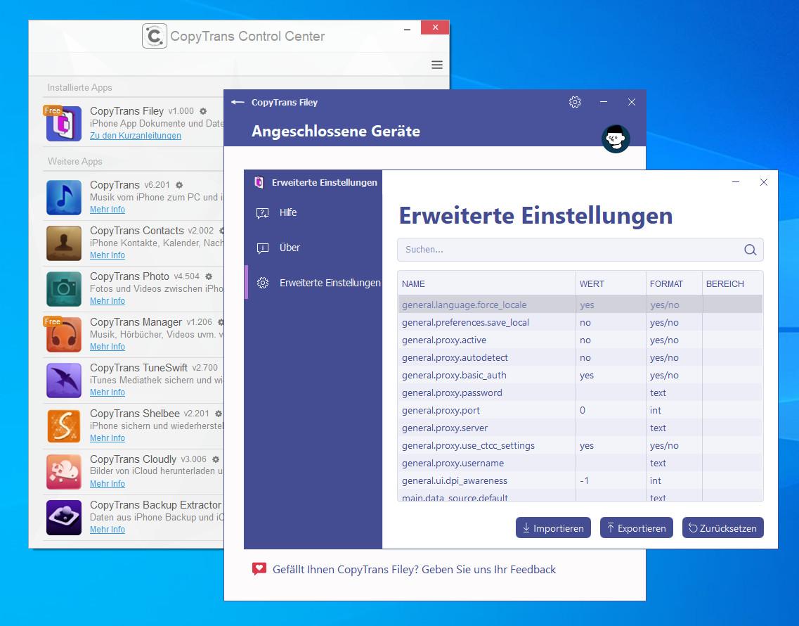 Screenshot 1 - CopyTrans Filey