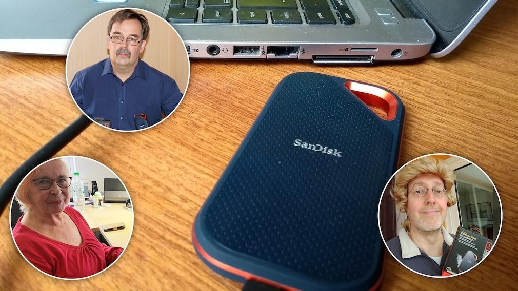 San Disk Extreme Pro Portable SSD V2: Mobile Festplatte im Test Ist die SanDisk Extreme Pro Portable V2 wirklich so praktisch für unterwegs, wie der Name verspricht? Fünf Leser haben es getestet.©COMPUTER BILD, privat