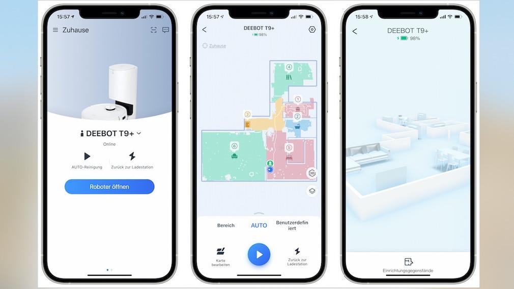 Ecovacs Deebot T9, App