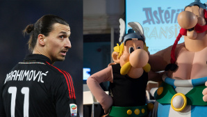 Ibrahimovic, Asterix & Obelix © MiGUEL MEDINA/Gettyimages, Paolo Bruno/Gettyimages