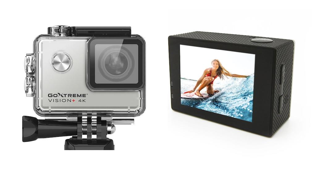 Die neue GoXtreme Vision+ 4K Action Cam mit und ohne Gehäuse