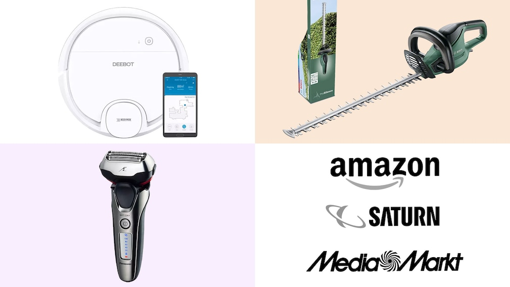 Amazon, Media Markt, Saturn: Top-Deals des Tages! © Saturn, Amazon, Media Markt, Bosch, Panasonic, ECOVACS