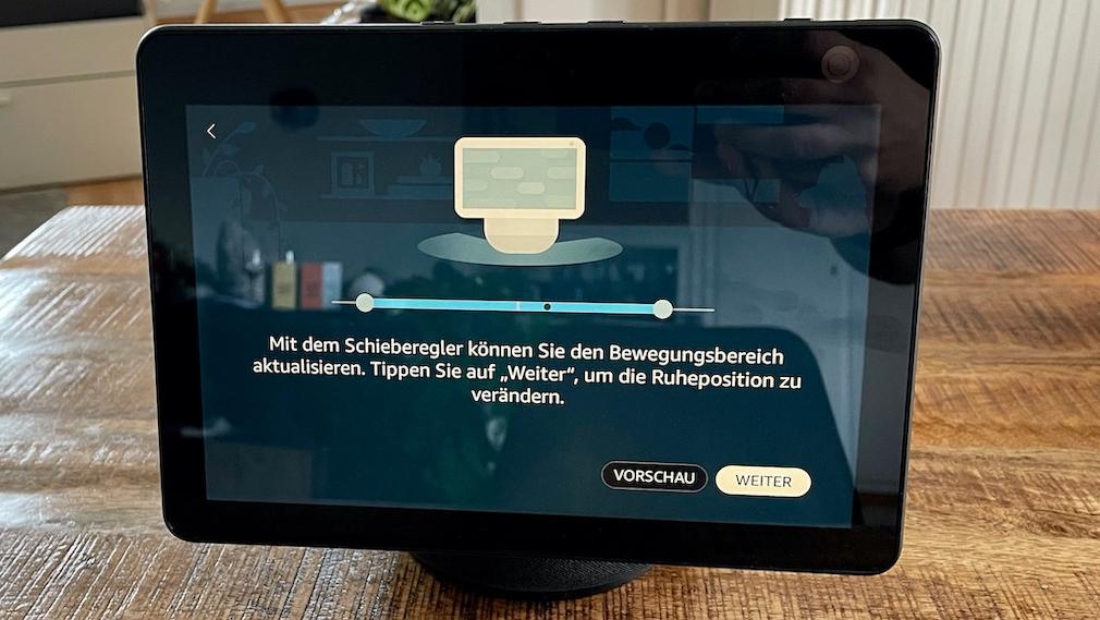 Amazon Echo Show 10, Bewegungsfunktion einrichten