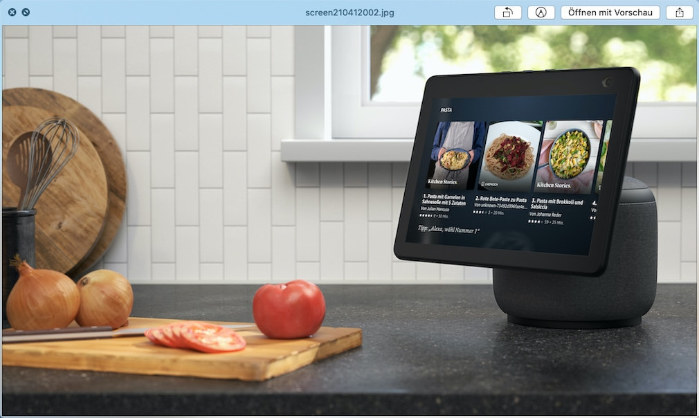 Amazon Echo Show 10 in der Küche