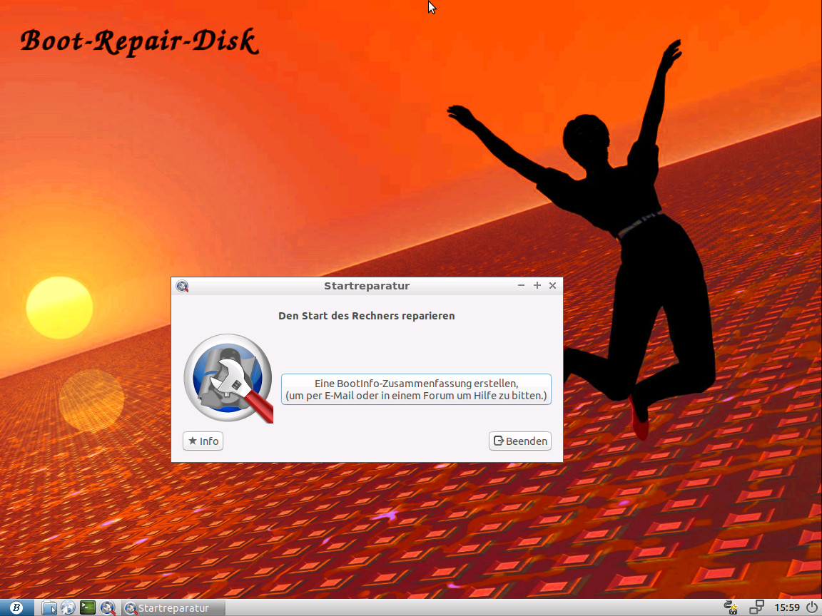 Screenshot 1 - Boot Repair Disk