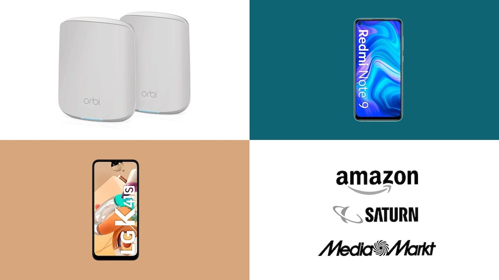 Amazon, Media Markt, Saturn: Top-Deals des Tages! © Saturn, Amazon, Media Markt, Netgear, LG, Xiaomi