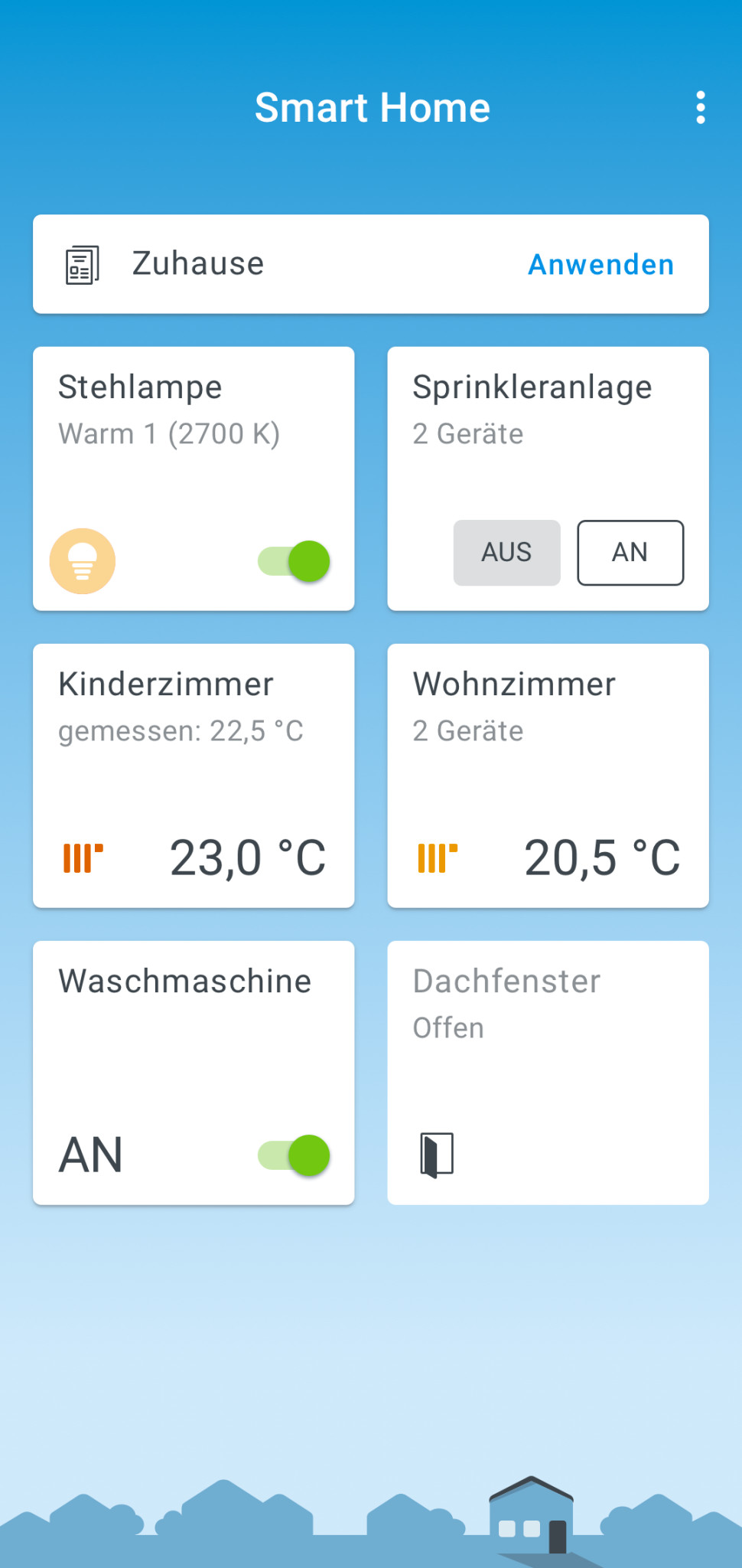 Screenshot 1 - FritzApp Smart Home (Android-App)