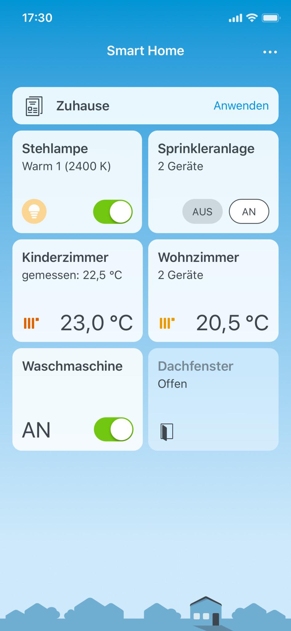 Screenshot 1 - FritzApp Smart Home (App für iPhone & iPad)