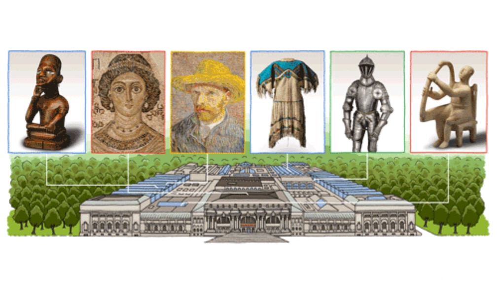 Google Doodle für Metropolitan Museum of Art