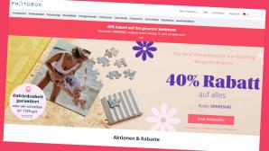 Beim Fotodienst Photobox gibt es aktuell attraktive Frühlings-Angebote©Screenshot Hersteller