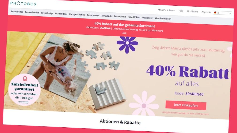 Beim Fotodienst Photobox Frühlings-Angebote