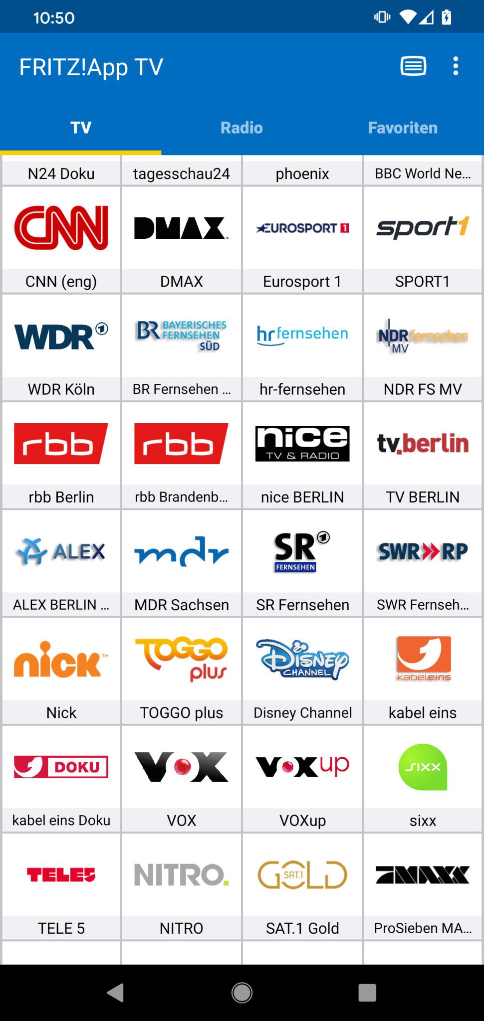 Screenshot 1 - FritzApp TV (Android-App)