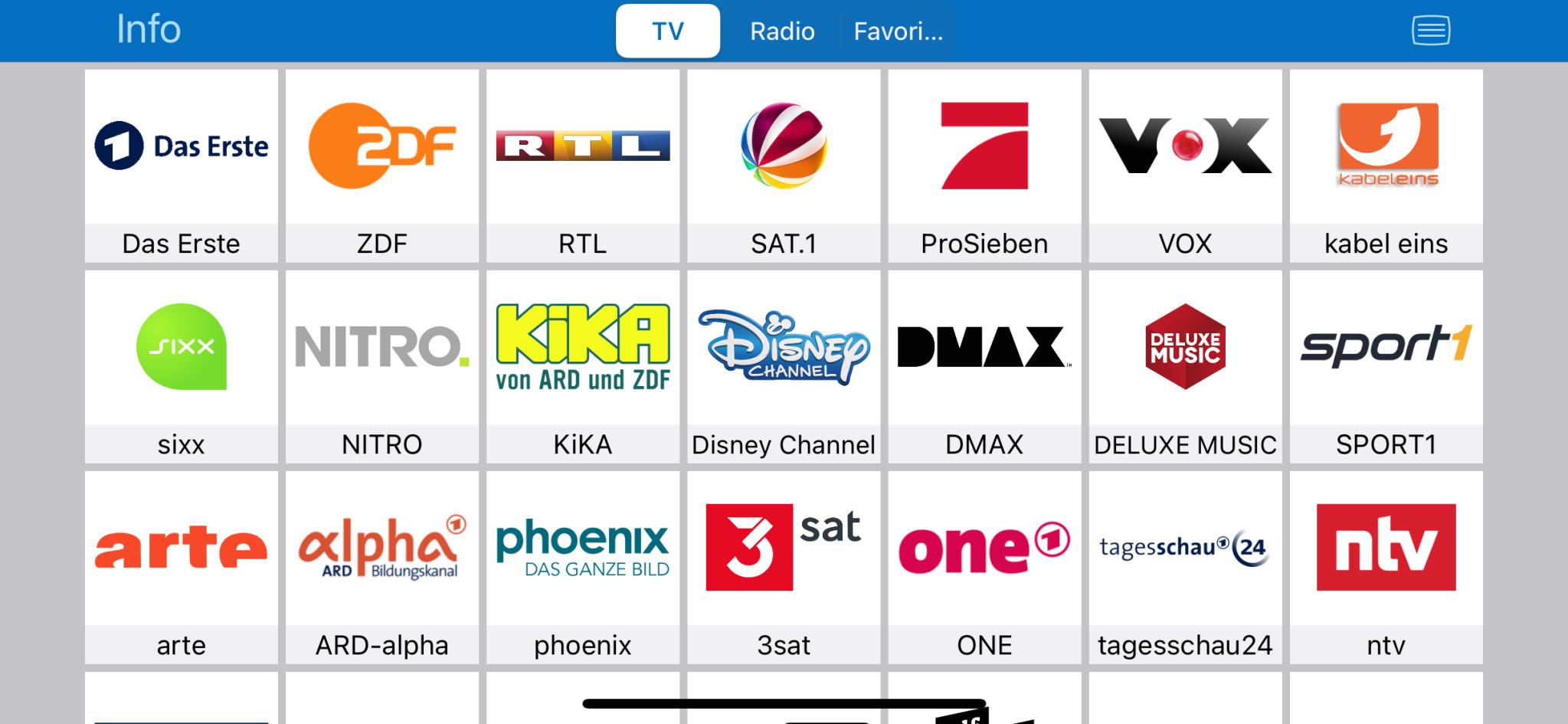 Screenshot 1 - FritzApp TV (App für iPhone & iPad)