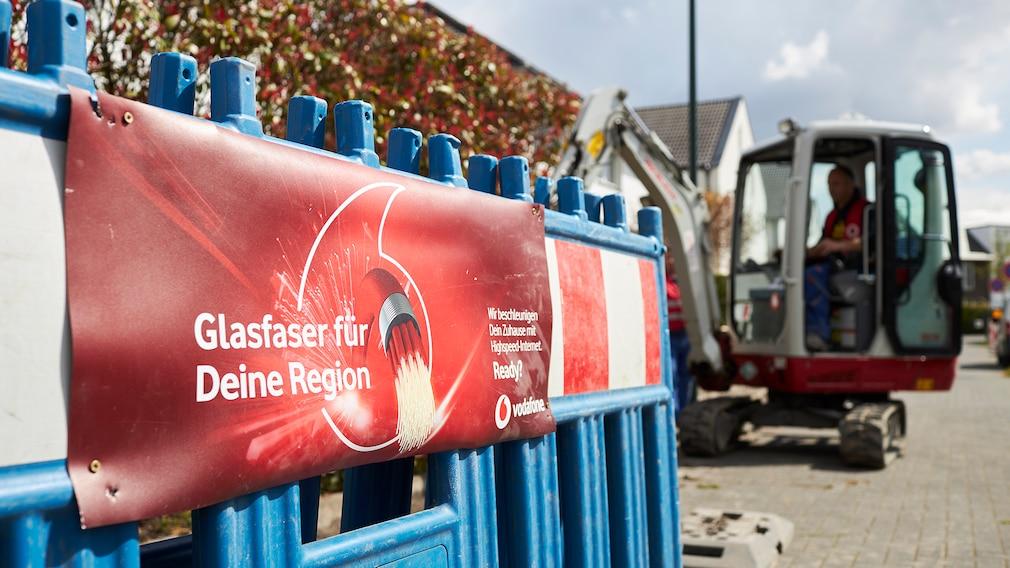 Glasfaser Ausbau von Vodafone