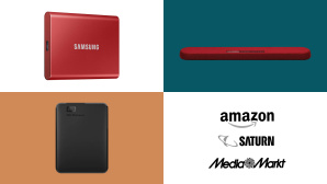 Amazon, Media Markt, Saturn: Top-Deals des Tages! © Saturn, Amazon, Media Markt, Samsung, Western Digital, Yamaha