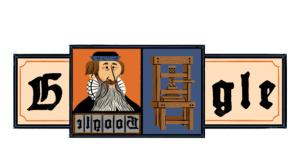Google Doodle für Johannes Gutenberg©Google