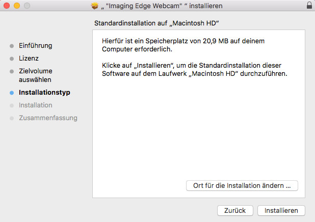 Screenshot 1 - Sony Imaging Edge Webcam (Mac)