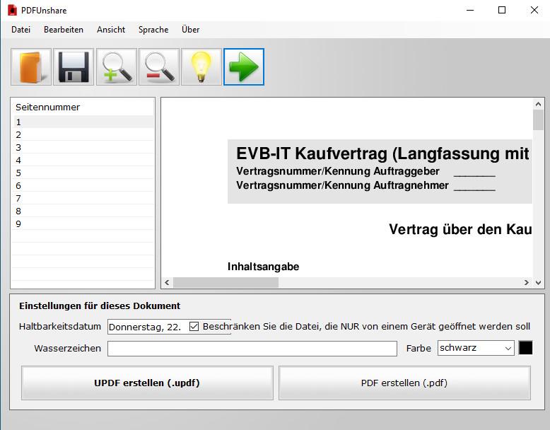 Screenshot 1 - PDF Unshare