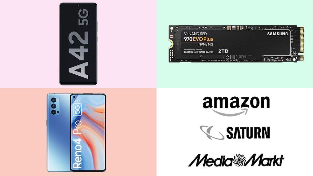 Amazon, Media Markt, Saturn: Top-Deals des Tages!©Amazon, Media Markt, Saturn, Samsung, OPPO
